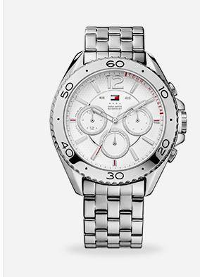 Relógio masculino Tommy Hilfiger com pulseira de aço