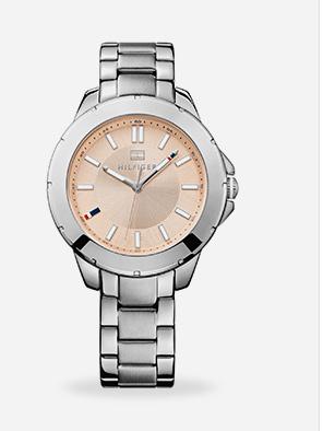 Relógio feminino Tommy Hilfiger com pulseira em aço